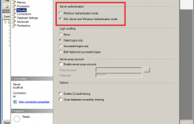 SQL Server Error 18456 Security Tab