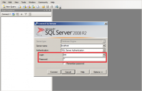 SQL Server Error 18456 Login Screen