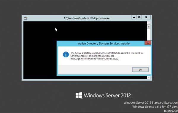 Active Directory Domain Services Installer