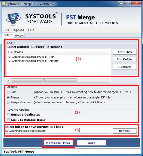 PST Merge - SysTools Software