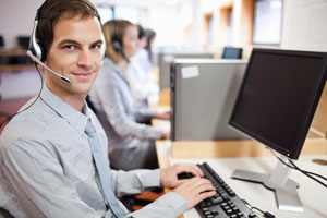 Operator using ITIL Service Desk Software